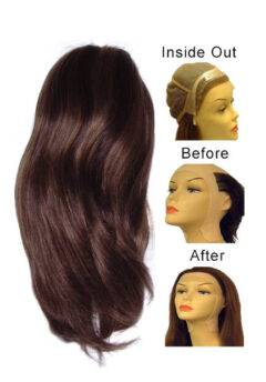 Lace Front Full Cap Wigs Silky Straight