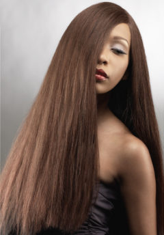 machine weft platinum yaki hair extensions