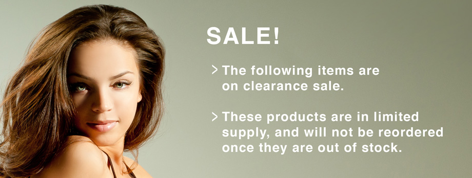 Image: Hair sale items and hair clearance items at Super Hair Factory